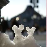 雪の日限定!スノーアート~TDS編